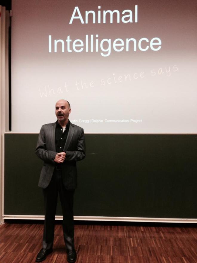 Esteban Rivas tijdens het seminar